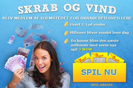 Skrabelodder online, Flash Skrabespil, Skrabekuponer, Skrabelodder, Skrab, scratchcardheaven.com